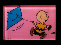 Charlie Brown Flies Kite Acrylic Magnet