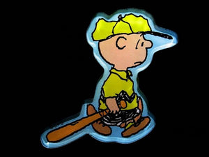 Charlie Brown Baseball Player Acrylic Magnet