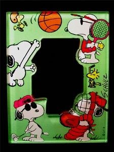 Snoopy Sports Acrylic Picture Frame Magnet