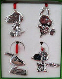 SNOOPY PERSONAS Silver Plated Ornaments Set