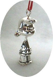 LUCY 3-D FIGURAL Silver Plated Ornament