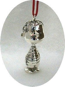 LINUS 3-D FIGURAL Silver Plated Ornament