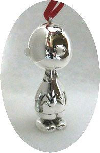CHARLIE BROWN 3-D FIGURAL Silver Plated Ornament