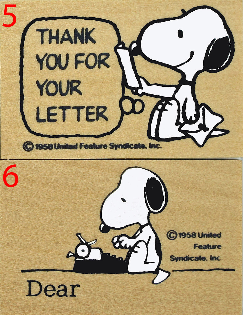 Snoopy Letter Writing RUBBER STAMP