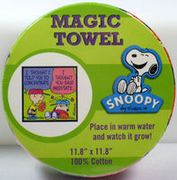 Magic Expandable Wash Cloth - Charlie Brown Baseball - HALF PRICE!