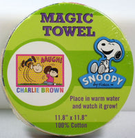 Magic Expandable Wash Cloth - Lucy and Charlie Brown