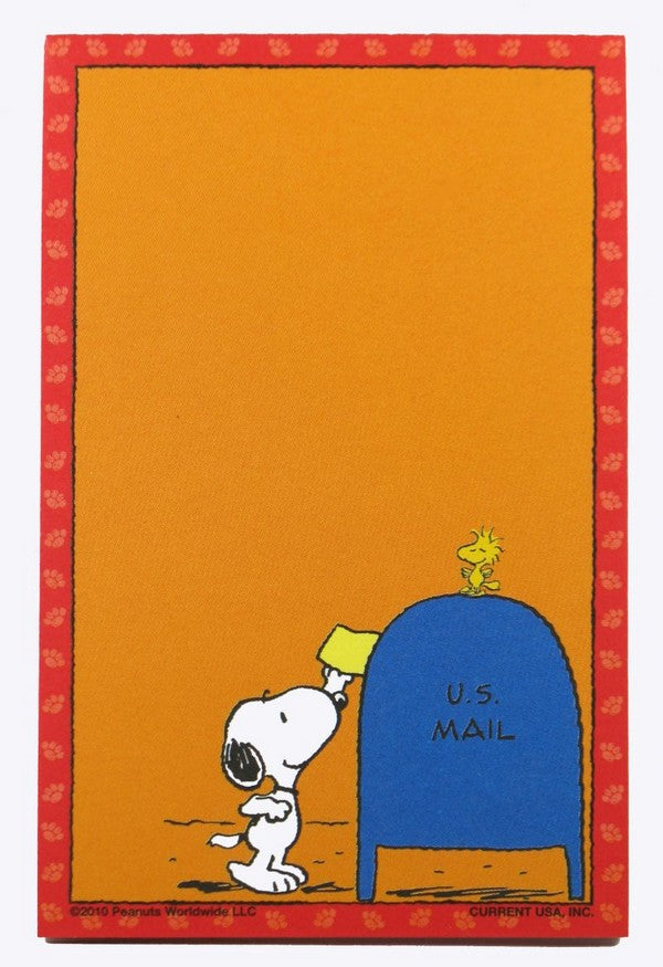 Snoopy Magnetic Note Pad - Mailing A Letter