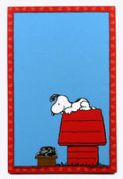 Snoopy Magnetic Note Pad - Waiting For Phone Call