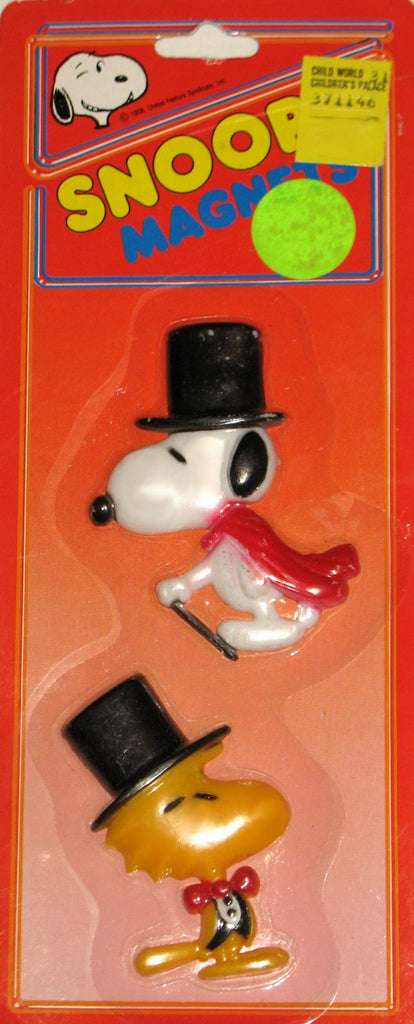 Woodstock and Snoopy Top Hat Magnet Set