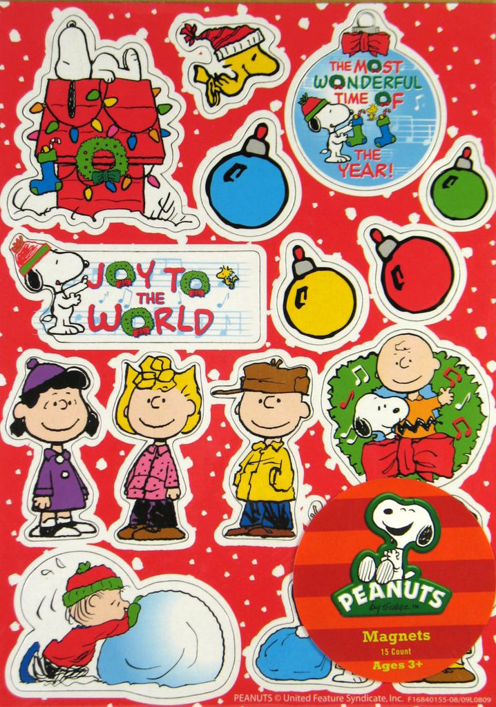Peanuts Gang Christmas Magnet Set