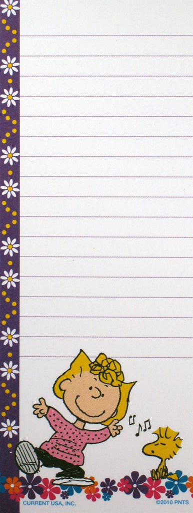 Peanuts Gang Magnetic Note Pad - Sally and Woodstock