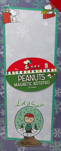 Peanuts Christmas Magnetic Note Pad