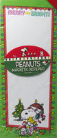 Snoopy Christmas Magnetic Note Pad - Merry and Bright