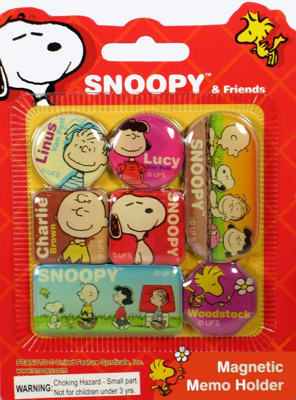 Peanuts Gang Magnetic Memo Holder Set