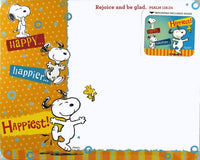 Snoopy Memo Mouse Pad - Happy...Happier...Happiest!