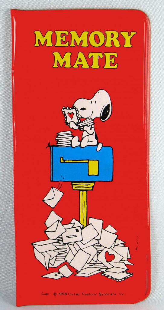 Snoopy Memory Mate Note Pad + Pencil
