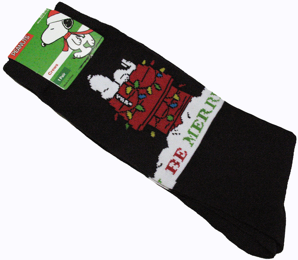 Men's Snoopy Christmas Socks - Be Merry