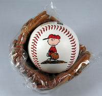 Charlie Brown Miniature Leather Baseball and Glove Set
