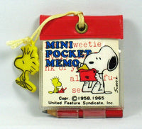 Snoopy Mini Pocket Memo (No Woodstock Bling)