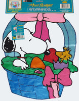 EASTER BASKET SNOOPY Mini Sculpted Flag