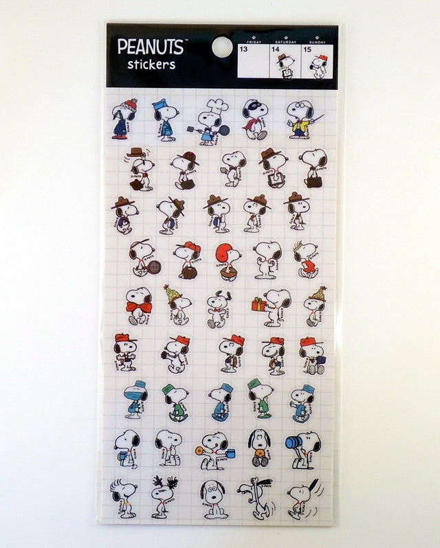 Peanuts Die-Cut Mini Plastic Stickers - Snoopy Personas