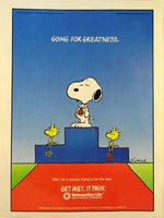 Met Life Advertisement - Snoopy at Summer Olympics