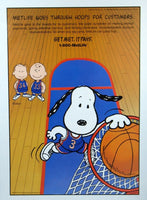 Met Life Advertisement - Snoopy Playing Basketball (1995)