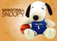 Met Life Snoopy Basketball Player Plush Doll