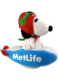 Met Life Snoopy In Blimp 2-Piece Plush Doll
