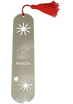 Met Life Snowflakes Metal Bookmark
