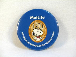 Met Life 130th Anniversary Pinback Button - REDUCED PRICE!