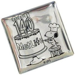 Met Life 140th Anniversary Metal Pin