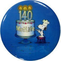 Met Life 140th Anniversary Pinback Button - REDUCED PRICE!