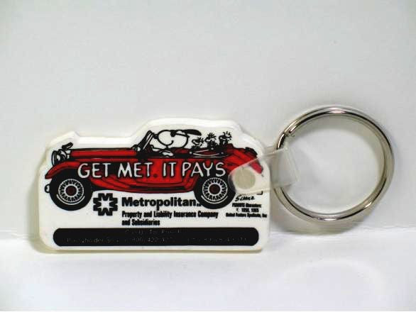 Met Life Vintage Joe Cool Vinyl Key Ring