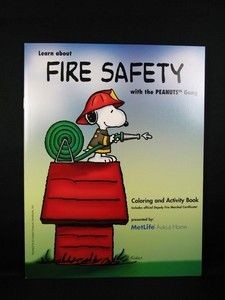 Met Life Fire Safety Coloring Book