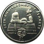 2000 Niue 50th Anniversary of Peanuts Coin