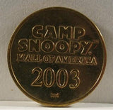 Camp Snoopy Mall of America Coin - 2003