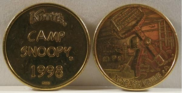 Knott's Camp Snoopy Coin - 1998