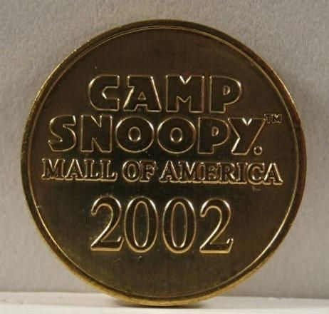 Camp Snoopy Mall of America Coin - 2002