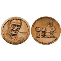 Charles Schulz Commemmorative Bronze Coin