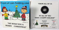 1987 Peanuts Christmas First-Edition Silver Coin -