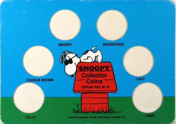 Snoopy Brass Collector Coin Display Board
