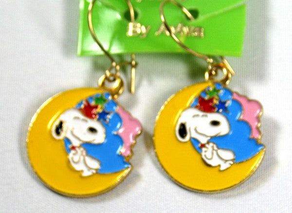 Snoopy Moon and Stars Earrings