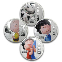 2015 Niue Peanuts Movie Silver Plated Coin