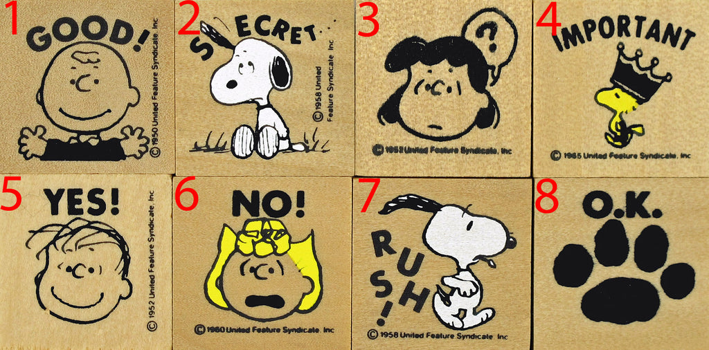 Peanuts Message RUBBER STAMP