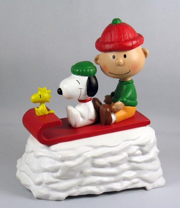 1991 Charlie Brown and Snoopy Musical Christmas Figurine