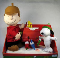 Charlie Brown and Snoopy Musical and Animated Christmas Display