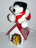 Flying Ace Animated Plush Doll on Rocking Doghouse