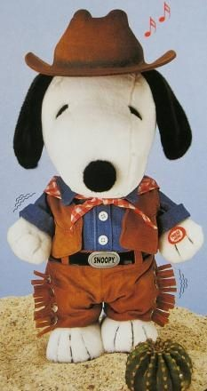 Snoopy Cowboy Animated and Musical Plush Doll