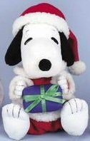 "Snoopy Musical Bopper Plush - Plays ""Santa Claus is coming to.."""